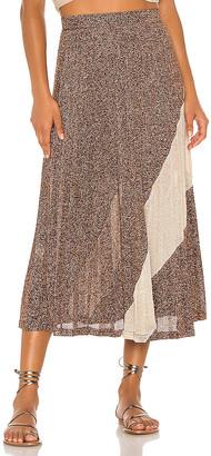 SUBOO Tyra Pleat Panelled Skirt