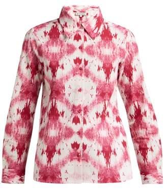 D'Ascoli Tie-dye Cotton Shirt - Womens - Pink White