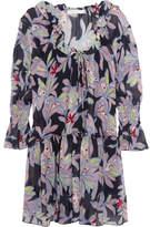See by Chloe Ruffled Floral-print Silk-crepe Dress - FR42