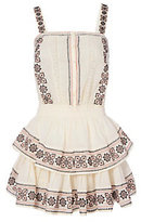 LOVESHACKFANCY Anna Embroidered Tiered Dress
