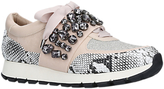 KG by Kurt Geiger Lovely Embellished Trainers, Beige/Comb