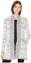 BB Dakota A Star Is Warm Eyelash Yarn Patterned Cardigan (Ivory) Women's Sweater