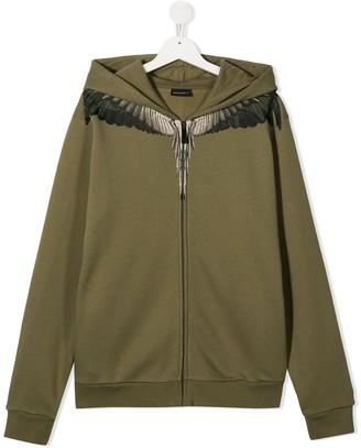 Marcelo Burlon County Of Milan Kids TEEN wings-print hoodie