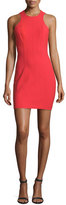 Alexander Wang Stretch Suiting Racerback Sheath Dress, Cherry