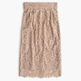 J.Crew Pintucked pencil skirt in lace
