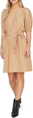 AWARE BY VERO MODA VERO MODA Lucinda Puff Sleeve Tie Waist Dress