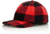 Crown Cap Men's Plaid Fitted Baseball Hat-RED