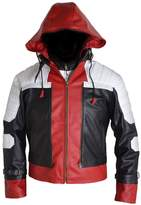 MSHC Batman Arkham Knight Red Hood Faux Leather Jacket + Vest (M) White Red