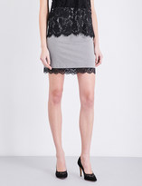 Claudie Pierlot Succes cotton-jacquard mini skirt