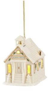Lenox Christmas Village Schoolhouse Lighted Ornament