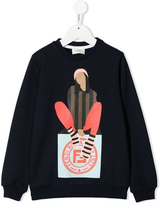 Fendi Kids Girl sweatshirt