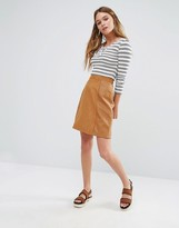 Oasis Patched Suedette Skirt