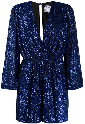 In The Mood For Love Bree plunge-neck sequin playsuit