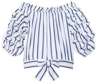 Habitual Little Girl's & Girl's Veda Striped Top
