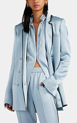 Haider Ackermann Women's Crêpe De Chine Double-Breasted Blazer - Lt. Blue