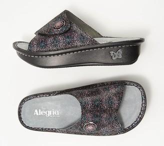 Alegria Leather Printed Slide Sandals - Kylee
