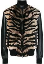 Alexander McQueen animal print leather jacket