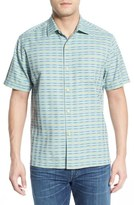 Tommy Bahama 'Pixel In Paradise' Original Fit Short Sleeve Sport Shirt