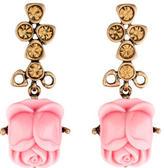 Oscar de la Renta Resin Flower Drop Earrings
