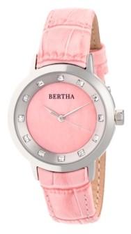Bertha Quartz Cecelia Collection Pinkleather Watch 34Mm