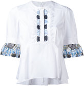 Peter Pilotto lace trim blouse - women - Cotton/Polyamide/Polyester/Spandex/Elastane - 10