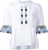 Peter Pilotto lace trim blouse - women - Cotton/Polyamide/Polyester/Spandex/Elastane - 8