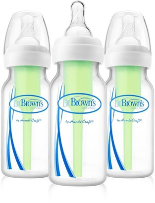 Dr Browns Dr. Brown's Options Narrow Bottle with Level 1 Slow Flow Nipple 4 OZ/120 ML 3-Pack