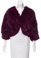 Adrienne Landau Cropped Fur Jacket