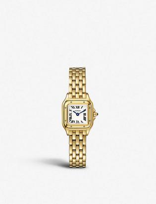 Cartier Panthere de mini 18ct yellow-gold watch