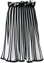 MSGM knitted ribbed A-line skirt