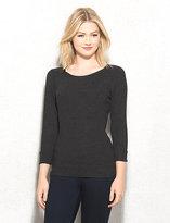 dressbarn roz&ALI Zip-Shoulder Sweater
