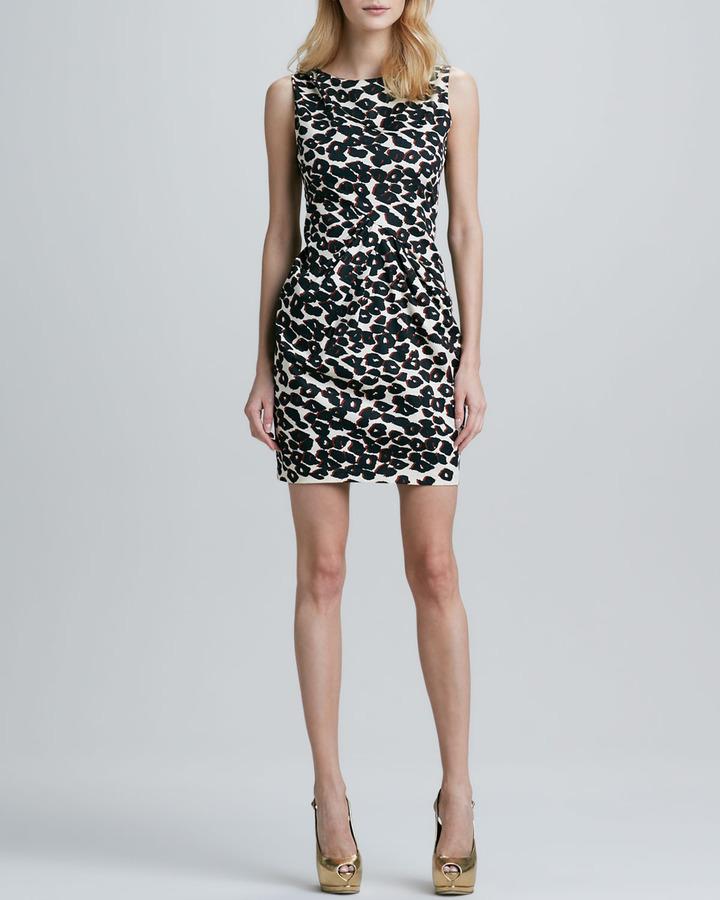 Nanette Lepore Fitted Cheetah-Print Dress
