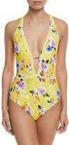 Nanette Lepore Monaco Bouquet Goddess One-Piece Swimsuit