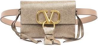 Valentino Garavani VRing Logo Plaque Foldover Belt Bag