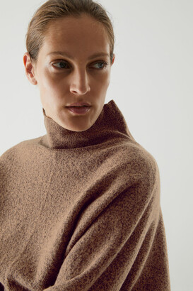 Cos Wool Cropped Roll-Neck Sweater