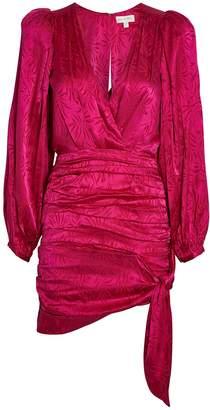Ronny Kobo Giorgia Ruched Jacquard Mini Dress