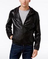 HUGO BOSS Men's Jainee Leather Bomber Jacket