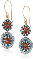 Miguel Ases Iolite Hydro-Quartz Circle Drop Earrings