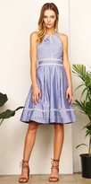 Adelyn Rae Crisscross Chambray Beverly Fit and Flare Dress