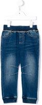 Armani Junior elasticated cuffs jeans
