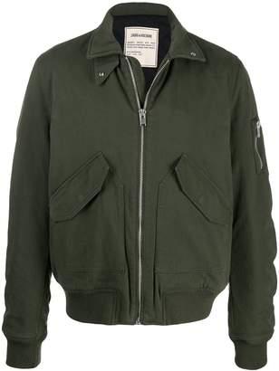 Zadig & Voltaire Zadig&Voltaire sleeve-pocket bomber jacket