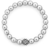 Lagos Signature Caviar Lattice Ball Stretch Bracelet