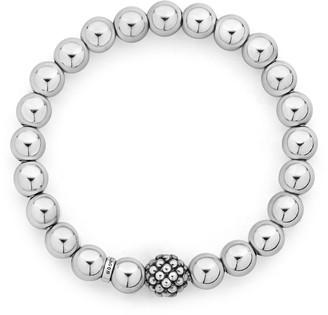 Lagos Signature Caviar Lattice Ball Stretch Bracelet