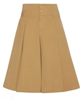 Closed Ruffled Cotton Skirt