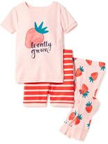 Old Navy 3-Piece Strawberry Graphic Sleep Set for Toddler & Baby