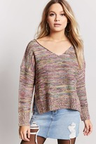 LOVE21 LOVE 21 Vented Multicolor Sweater