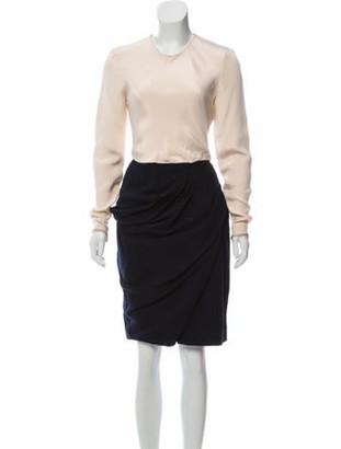 Roksanda Silk-Blend Knee-Length Dress Champagne