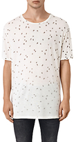 Allsaints Allsaints Feathered Crew Neck T-shirt, Chalk White
