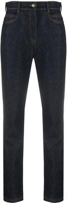 Fendi High Waist Slim-Fit Jeans