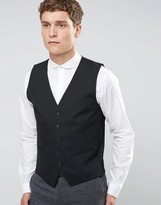 Selected Waistcoat With Stretch In Slim Fit